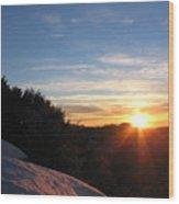 Sunset Leaving Yosemite Wood Print