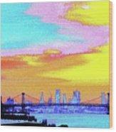 Sunset Lower Manhattan 2c5 Wood Print