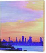 Sunset Lower Manhattan 2c2 Wood Print