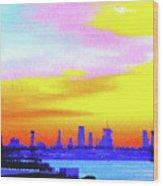 Sunset Lower Manhattan 2c3 Wood Print