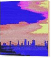 Sunset Lower Manhattan 2c7 Wood Print