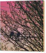 Sunset Lovers Wood Print