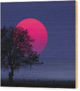 Sunset Magenta Wood Print