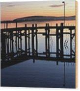 Sunset Magic Bodega Bay California Wood Print