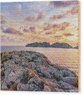 Sunset Malgrats Islands Wood Print