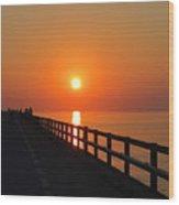 Sunset Marathon Wood Print