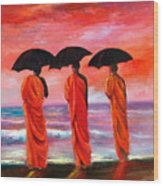 Sunset Meditation Wood Print