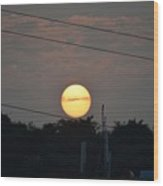 Sunset Moment Wood Print