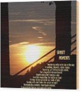 Sunset Moments IIi Wood Print