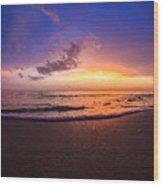 Sunset Naples Beach Florida Wood Print