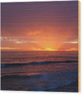 Sunset Near Carpinteria Wood Print
