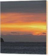 Sunset Near Doubtful Sound Wood Print