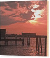 Sunset Newport Rhode Island Wood Print