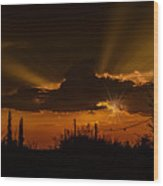 Sunset No.07 Wood Print