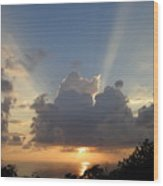 Sunset No.4 Wood Print by Gregory Young