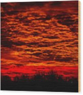Sunset Of New Mexico Wood Print