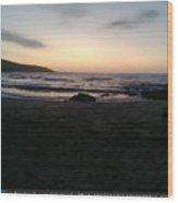 Sunset On The Beach  Wood Print