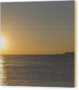 Sunset Off Of Cape May Wood Print