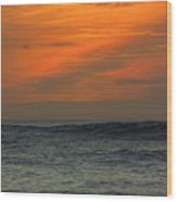 Sunset Ohau Wood Print
