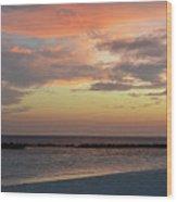 Sunset On An Idyllic Island In Maldives Wood Print