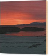 Sunset On Arisaig Wood Print