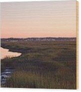 Sunset On Broad Creek Hilton Head South Carolina Wood Print