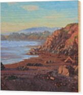 Sunset On Cambria Ca Wood Print