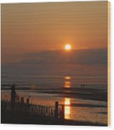Sunset On Cape Cod Wood Print