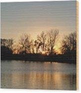 Sunset On Elk Wood Print