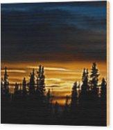 Sunset On Fairbanks - Alaska Wood Print