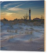 Sunset On Fire Island Wood Print