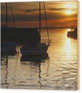 Sunset On Fisherrow Wood Print