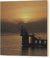 Sunset on Galway Bay Wood Print