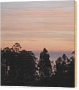 Sunset On Half Moon Bay  Wood Print