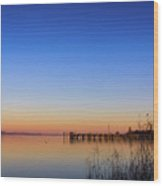 Sunset On Lake Constance II Wood Print