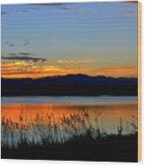 Sunset On Lake Dillon Wood Print