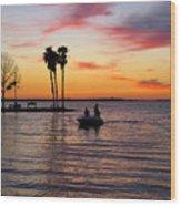Sunset On Lake Dora At Mount Dora Florida Wood Print