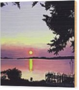 Sunset On Lake Dora Wood Print