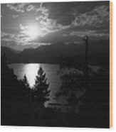 Sunset On Lake Estes Wood Print