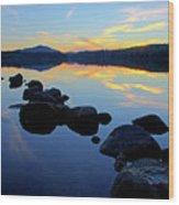 Sunset On Lake Harris 2 Wood Print