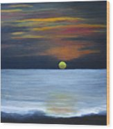 Sunset On Lake Michigan Wood Print