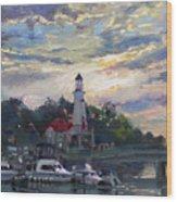 Sunset On Lake Shore Mississauga Wood Print