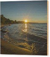 Sunset On Lake Superior Wood Print