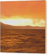 Sunset On Lake Tahoe, California Wood Print