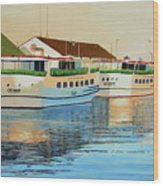 Sunset On Mackinac Wood Print
