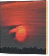 Sunset On Plum Island Wood Print