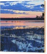Sunset On Porcupine Lake Wood Print