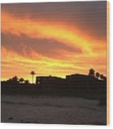 Sunset On Sanibel Wood Print