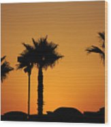 Sunset On Socal Beach Wood Print