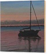 Sunset On St. Andrew Bay Wood Print